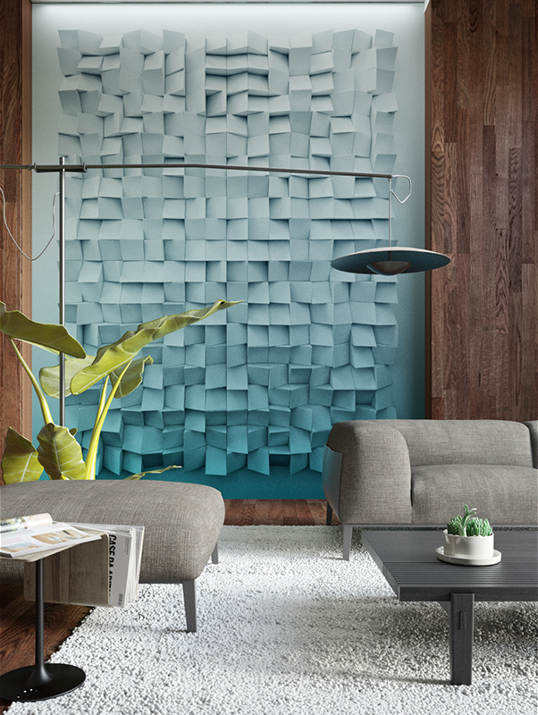 Cubical 3d Wallpaper Mural Designer Wallpaper Accent Wall