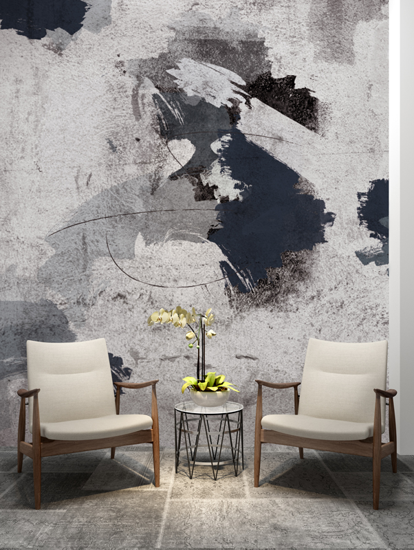 Abstract Painting Wallpaper Mural Designer Wallpaper Accent Wall