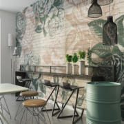 flowers-bricks-designer-wallpaper-mural