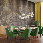 forest pen drawing designer wallpaper mural for your accent wall