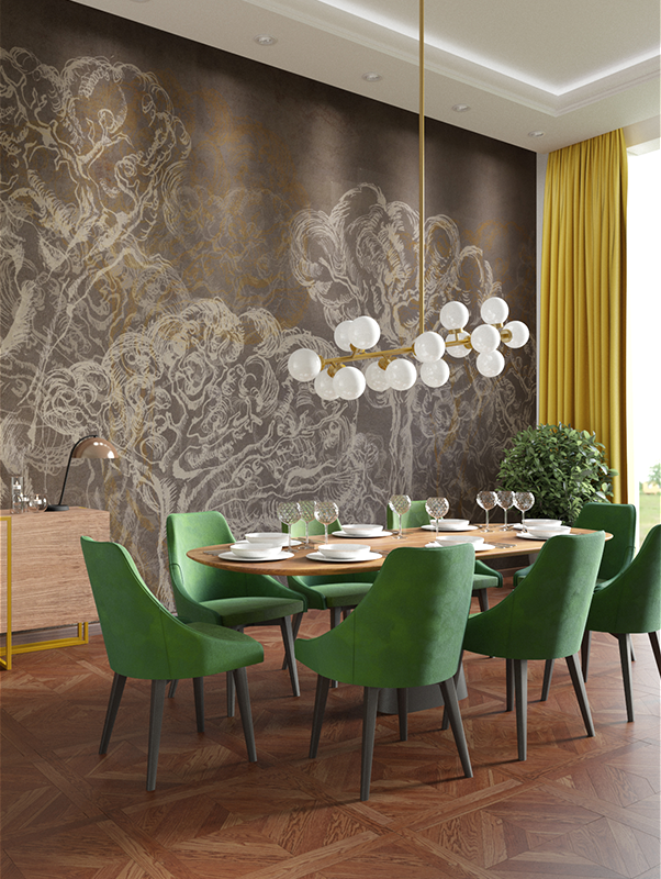 Hidden forest wallpaper mural designer wallpaper for Designer wallpaper mural