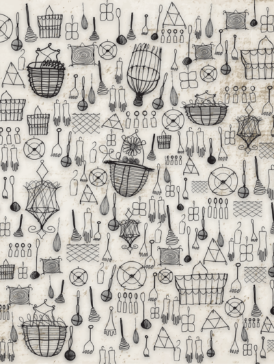 wire-kitchen-tools-accent-wallpaper