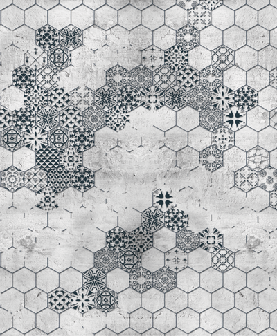 Mosaic-black-and-white-wallpaper-mural