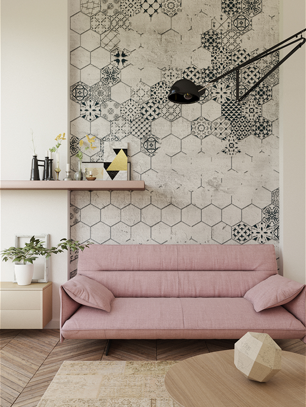 Mosaic Wallpaper Mural - Accent Wall